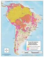 map of south america roadless areas